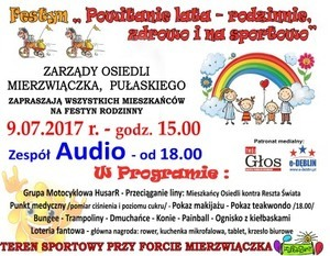 FESTYN RODZINNY - POWITANIE LATA - 09.07.2017