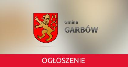 Obwieszczenie Wójta Gminy Garbów z dnia 14 października 2019 r. w sprawie konsultacji