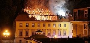 """Spłonął dach """"Teresy""""."""