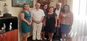 Wizyta Honorowej Obywatelki w Jedlinie-Zdroju.