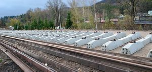 Prace na linii kolejowej 285 idą pełną parą.