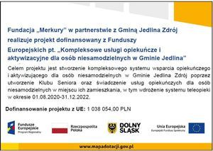 Rekrutacja do projektu Kompleksowe usługi opiekuńcze i aktywizujące  dla osób niesamodzielnych w Gminie Jedlina-Zdrój