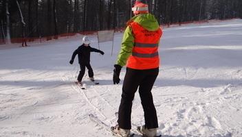 Nauka jazdy na nartach z instruktorem