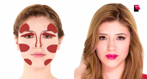 Jak wyszczuplić twarz makijażem?