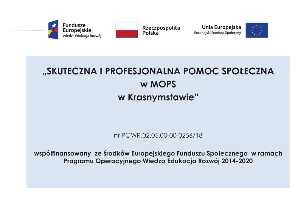 Skuteczna i profesjonalna pomoc społeczna w MOPS  w Krasnymstawie