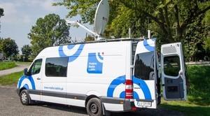 Wóz transmisyjny Radia Lublin w Ciecierzynie