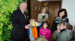 Wizyta przedszkolaków ze świątecznymi życzeniami