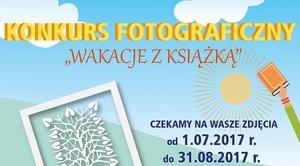 """Gminny konkurs fotograficzny """"Wakacje z książką"""""""