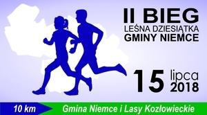 """ZAPROSZENIE: na II Bieg """"Leśna Dziesiątka Gminy Niemce"""""""