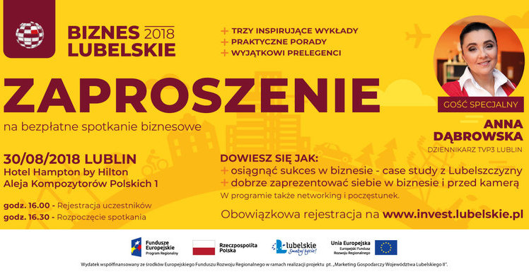 Zaproszenie Na Kolejne Spotkanie Biznes Lubelskie 2018 Gmina Niemce