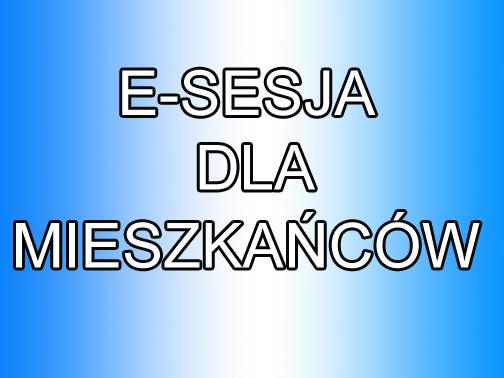 E-SESJA DLA MIESZKAŃCÓW