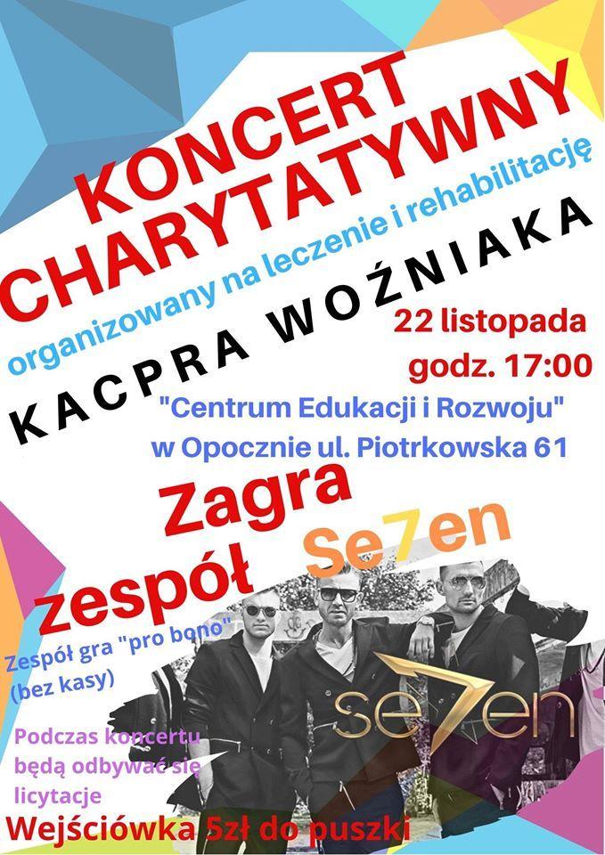 Koncert charytatywny na leczenie i rehabilitację Kacpra Woźniaka