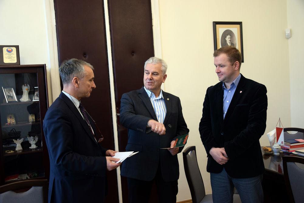 Spotkanie Burmistrza Opoczna Dariusza Kosno z Posłem na Sejm RP Cezarym Grabarczykiem