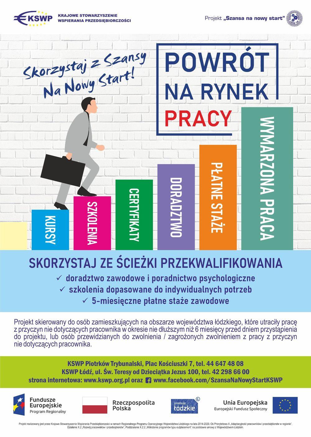 """""""Szansa na nowy start"""" – szkolenia i staże"""
