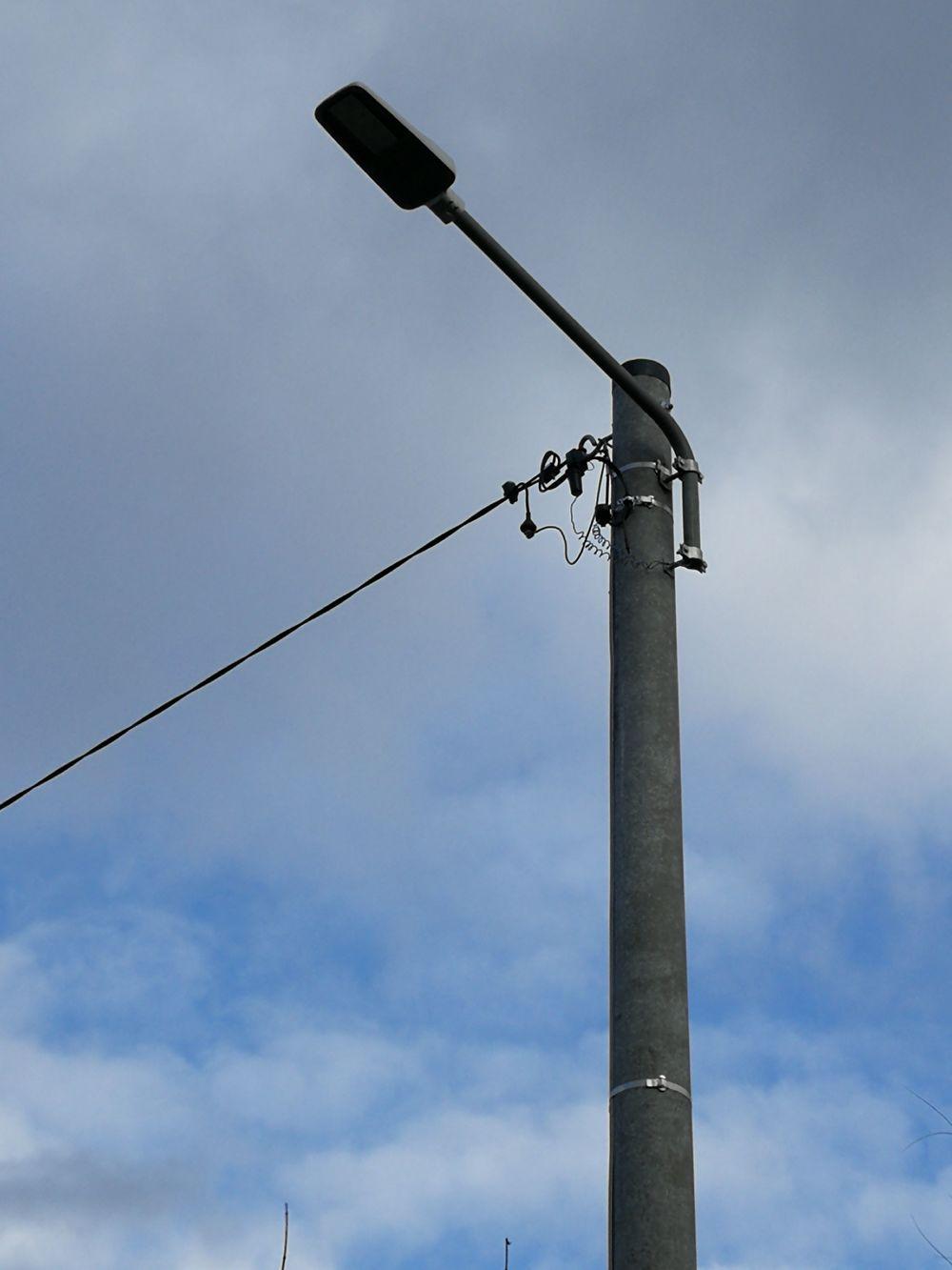 Nowe oświetlenie uliczne w Stużnie