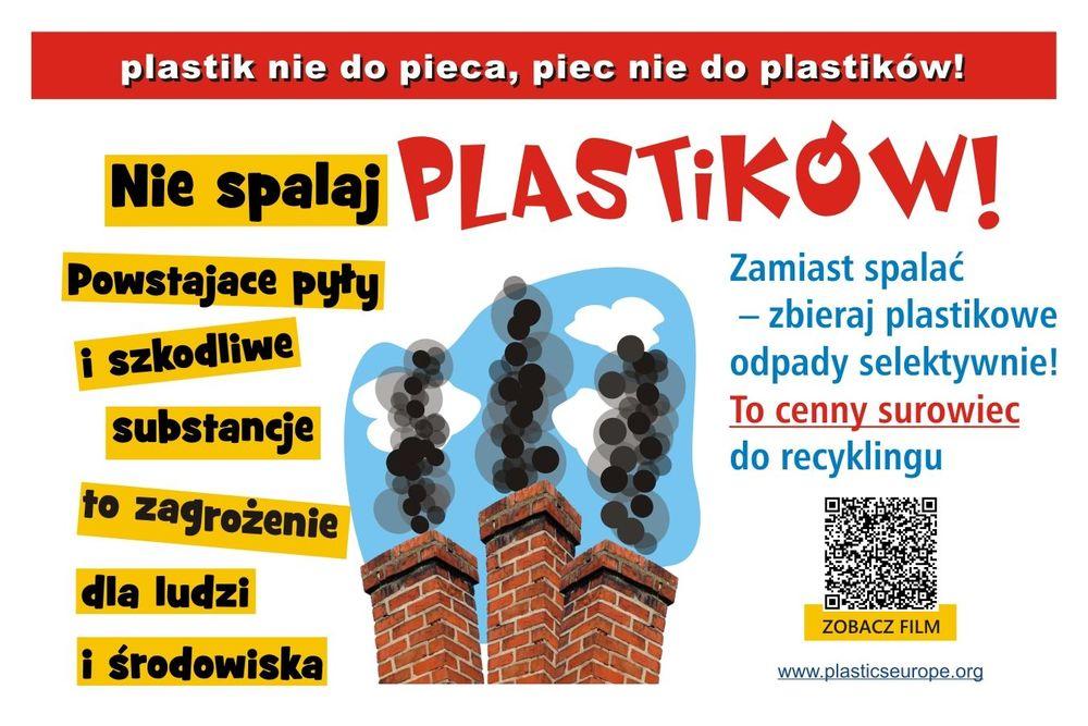 """Kampania edukacyjno - społeczna pn. """"Plastik nie do pieca - piec nie do plastiku"""""""