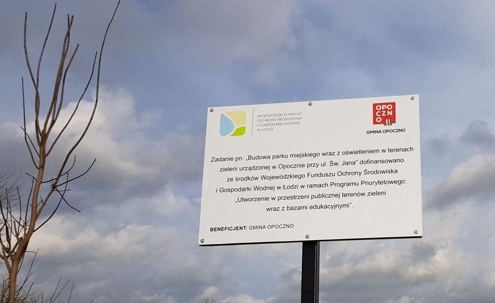 W Opocznie przy ul. Św. Jana powstał park miejski