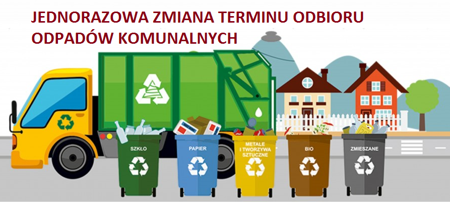 Jednorazowa zmiana termninu odbioru odpadów komunalnych