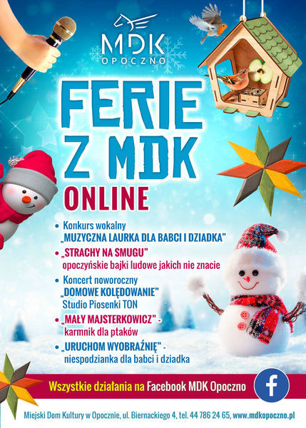 Ferie zimowe z MDK - online
