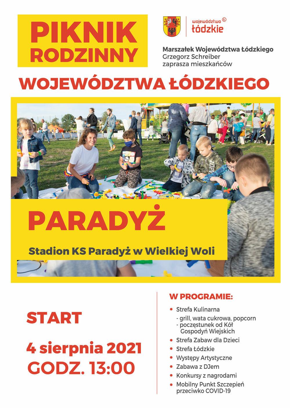 Piknik Rodzinny Województwa Łódzkiego w Paradyżu