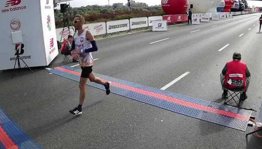 Grzegorz Stępień 74 na 43 Maratonie Warszawskim