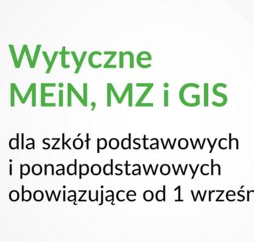 Napis Wytyczne MEiN, MZ i GIS