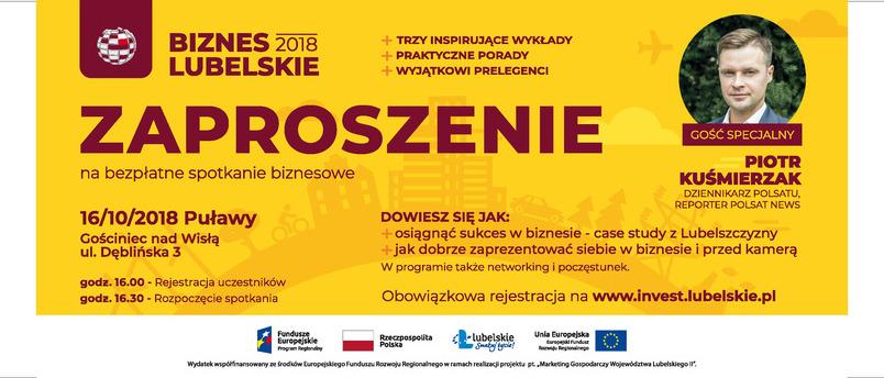 """""""Biznes Lubelskie 2018"""" Bezpłatne spotkania dla mikroprzedsiębiorców"""