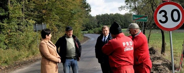 Trwa modernizacja drogi powiatowej Nr 2521L od ul. Wspólnej w Górze Puławskiej i Klikawie do Tomaszowa