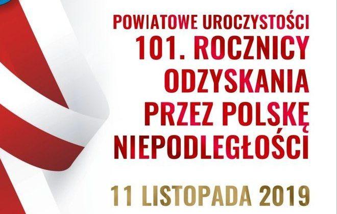 Powiatowe Uroczystości 101. Rocznicy Odzyskania Przez Polskę Niepodległości