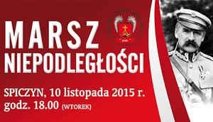 MARSZ NIEPODLEGŁOŚCI - SPICZYN 10 Listopada 2015 r. godzina 18.00