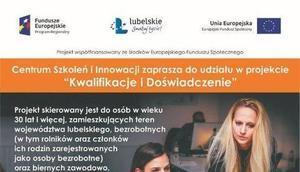"""Centrum Szkoleń i Innowacji Sp. z o.o. zaprasza do udziału w projekcie   """"Kwalifikacje i Doświadczenie"""""""
