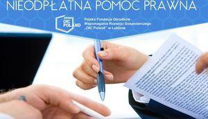 Nieodpłatna Pomoc Prawna dla mieszkańców Powiatu Łęczyńskiego