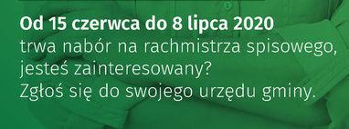 Nabór kandydatów na rachmistrzów do powszechnego spisu rolnego 2020 r.