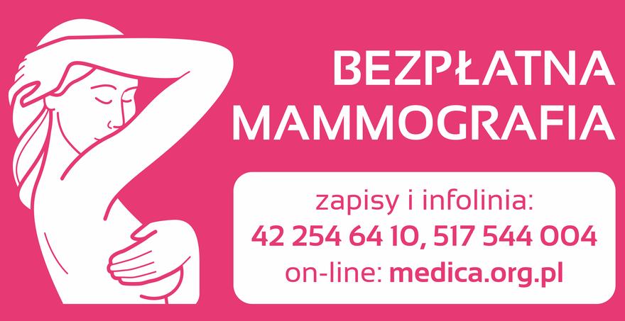 Bezpłatna mammografia - 14 stycznia 2021 GOK w Stężycy
