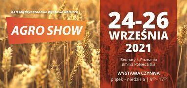 AGRO-SHOW XXII – Bednary 24 – 26 września 2021