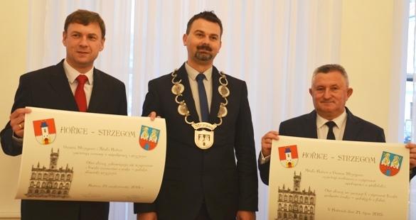 Umowa partnerstwa miast Strzegom-Horice podpisana
