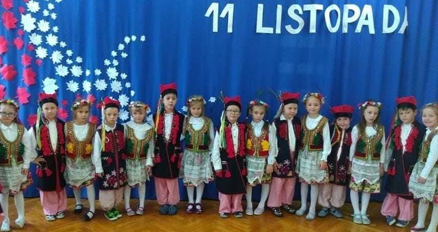 Przedszkolaki z dumą obchodziły narodowe Święto Niepodległości