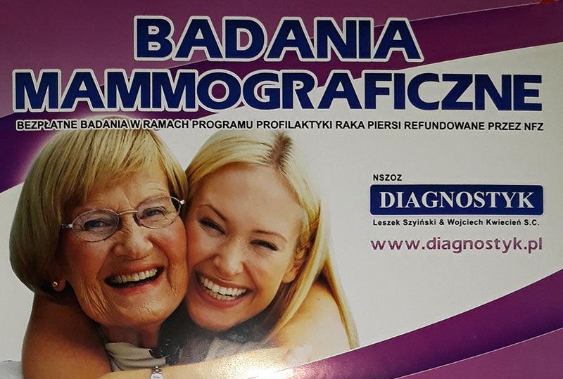 Bezpłatna mammografia w Strzegomiu
