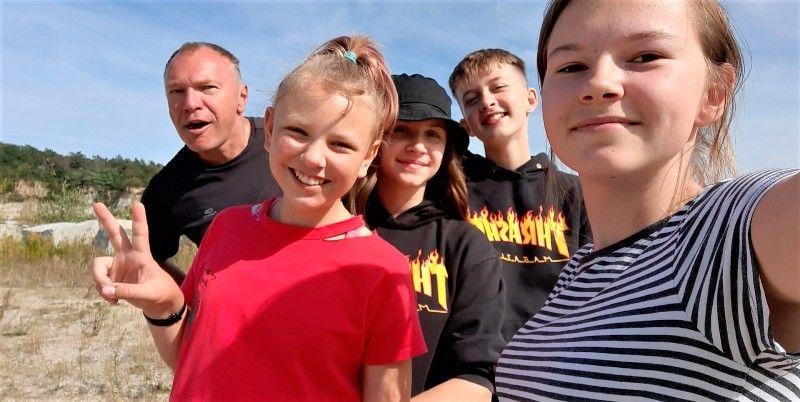 Turystyka rowerowa w szkole w Stanowicach