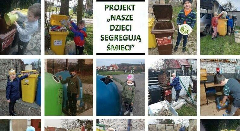 Kostrzańskie dzieci segregują śmieci