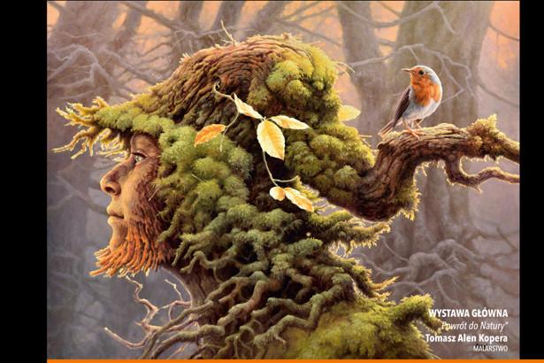 Zdjęcie grafiki z plakatu drzewo kobieta