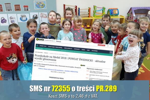 Zdjęcia dzieci i skrin z www. z napisem SMS nr 72355 o treści PR.289 Koszt SMS a to 2,46 zł z VAT.