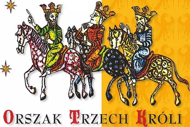 Grafika Trzech Króli  z napisem Orszak Trzech Króli