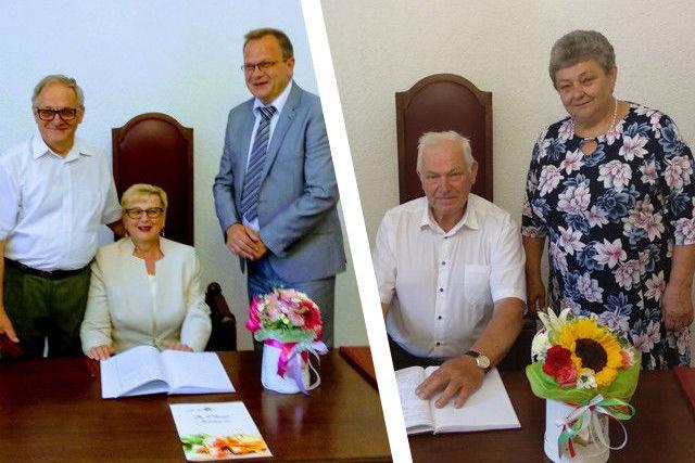 Zdjęcia Par jubileuszowych i burmistrza