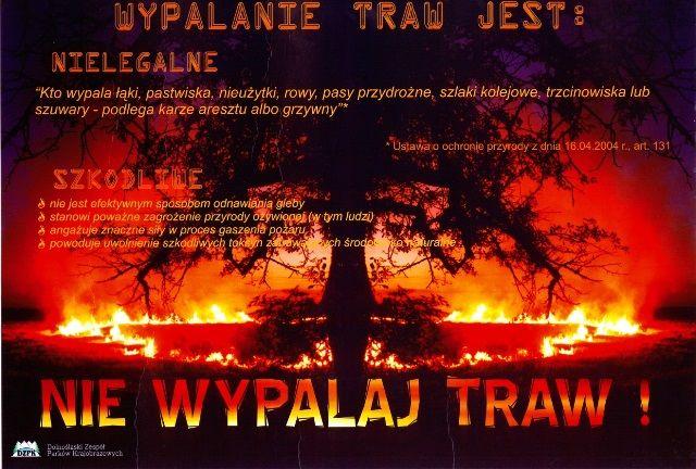 """Akcja informacyjna DZPK - """"Zakaz wypalania traw 2020"""""""