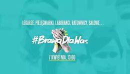#BrawaDlaWas – zapraszamy do udziału w akcji podziękowań dla służb medycznych