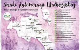 Przód ulotki Smaki Aglomeracji Wałbrzyskiej
