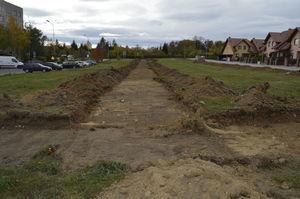 Budowa Parku Osiedlowego. Teren budowy.