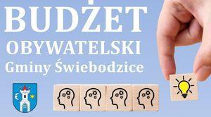Plakat o treści Budżet Obywatelski Gminy Świebodzice