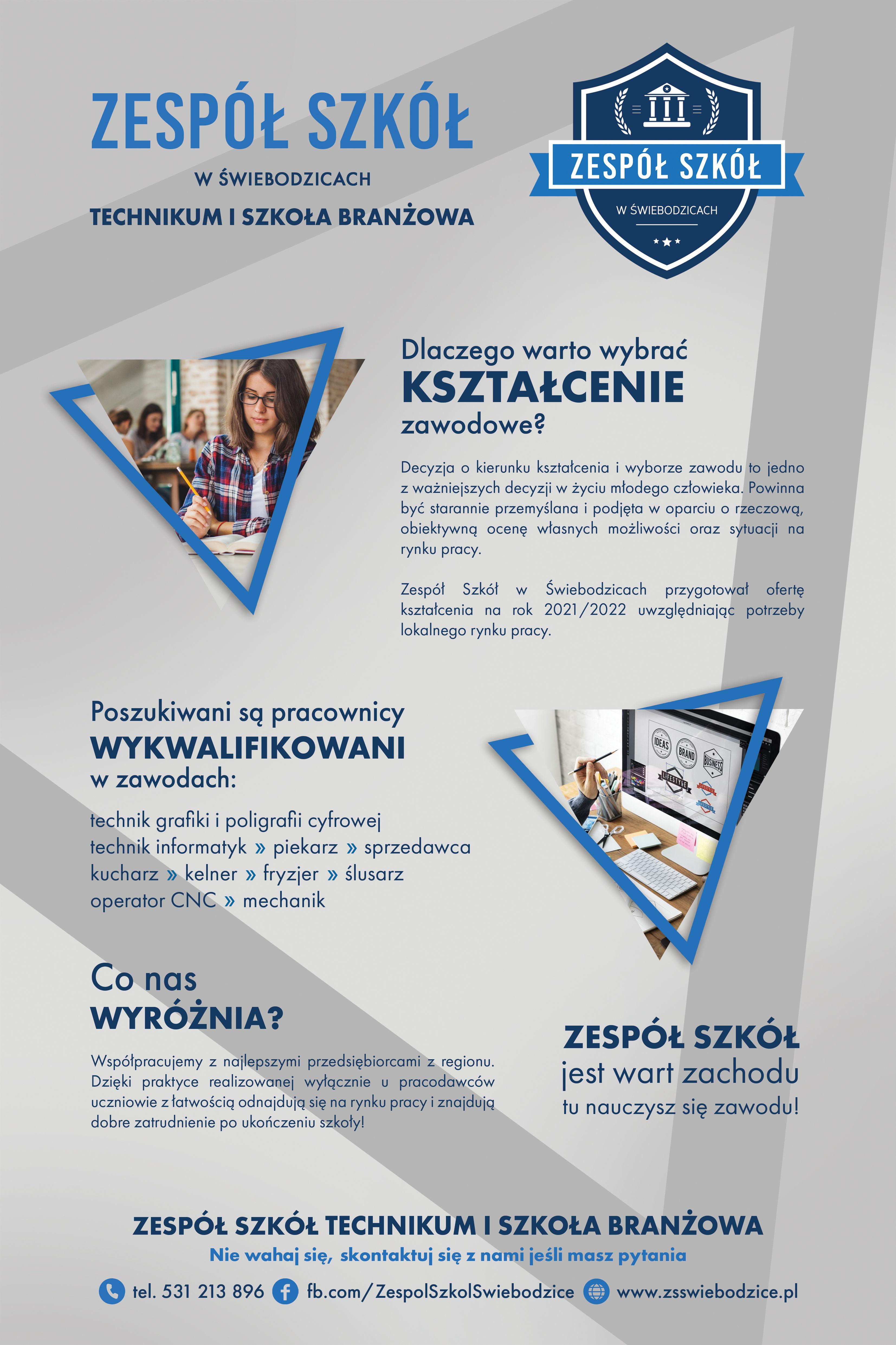 plakat Zespołu Szkół w Świebodzicach